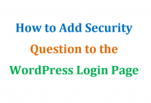 how to add security question to wp login page