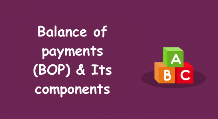 Top three components of Balance of Payment (BOP)